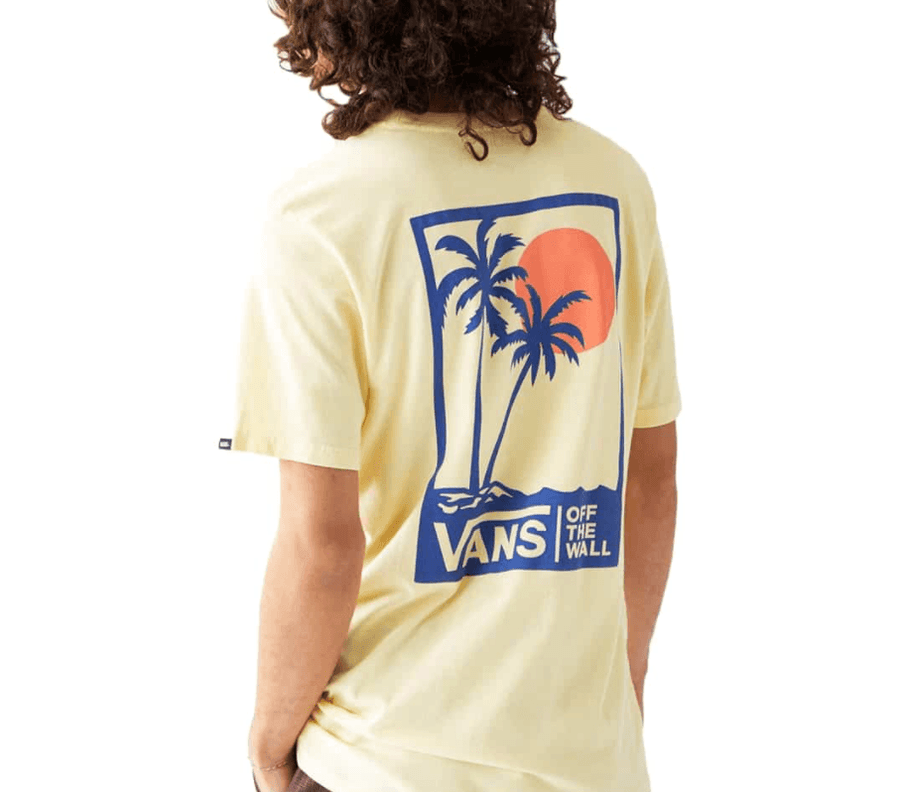 VANS Vintage Boxed Palms T-Shirt Mellow Yellow MENS APPAREL - Men's Short Sleeve T-Shirts Vans S