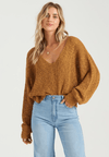 BILLABONG Feel The Breeze Sweater Women's Antique Gold WOMENS APPAREL - Women's Knits and Sweaters Billabong