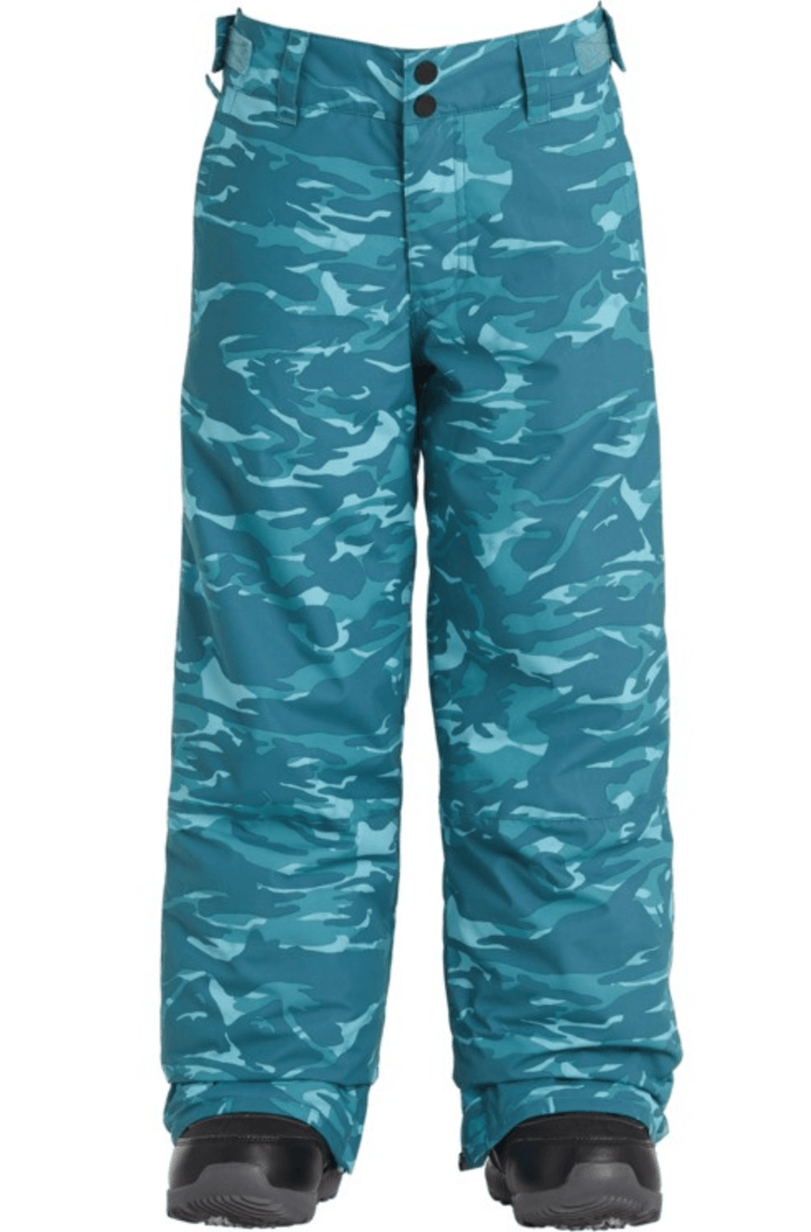 BILLABONG Grom Snowboard Pants Boys Blue Camo 2021 YOUTH INFANT OUTERWEAR - Youth Snowboard Pants Billabong