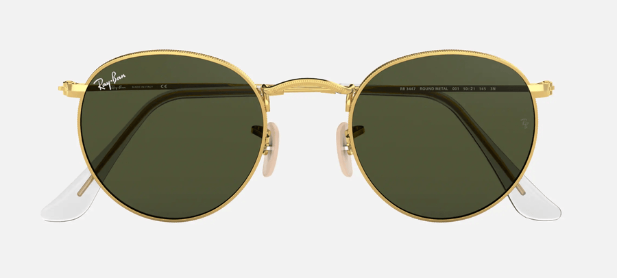 RAY-BAN Round Metal Gold - Green Classic G-15 Sunglasses SUNGLASSES - Ray-Ban Sunglasses Ray-Ban
