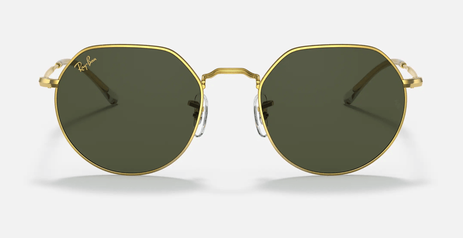 RAY-BAN Jack Gold - Green Classic G-15 Sunglasses SUNGLASSES - Ray-Ban Sunglasses Ray-Ban