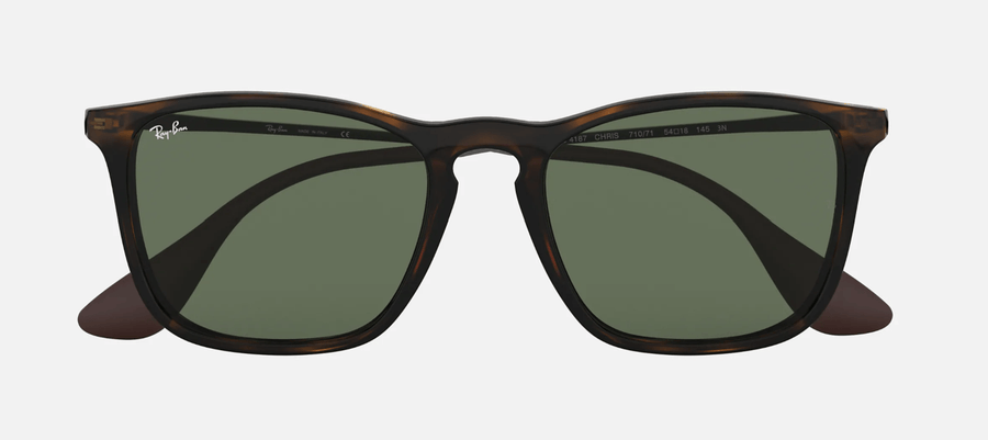 RAY-BAN Chris Tortoise/Gunmetal - Green Classic Sunglasses SUNGLASSES - Ray-Ban Sunglasses Ray-Ban