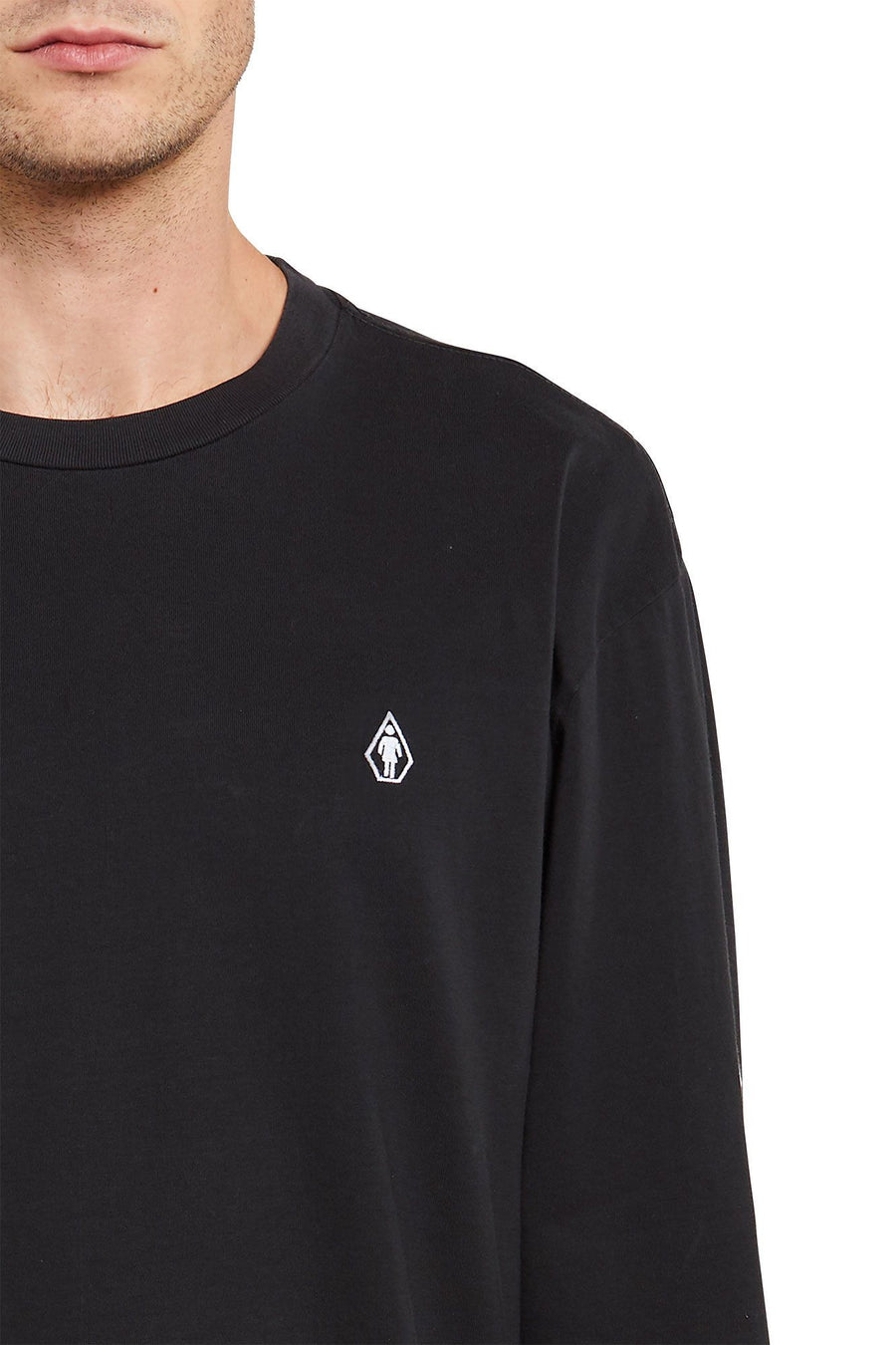 VOLCOM X GIRL SKATEBOARDS Long Sleeve T-Shirt Black MENS APPAREL - Men's Long Sleeve T-Shirts Volcom S