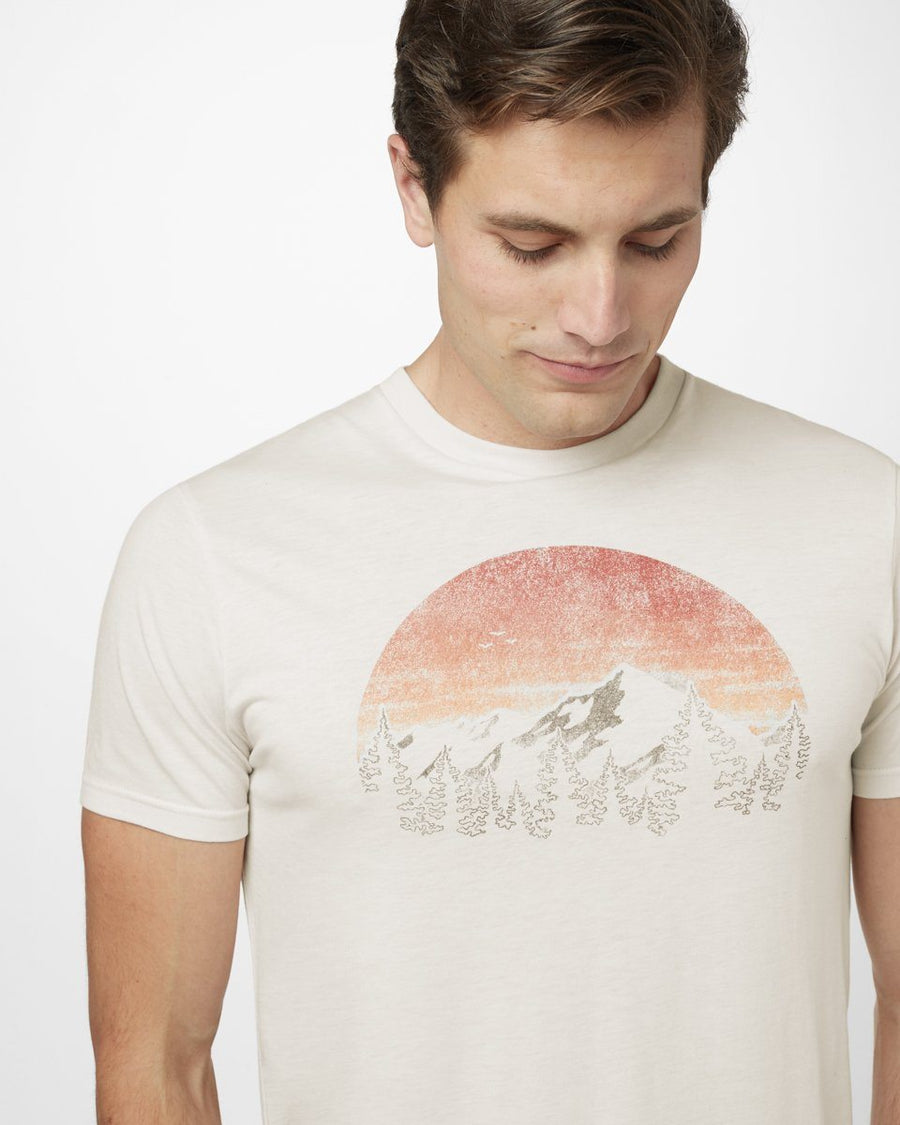 TENTREE Vintage Sunset T-Shirt Elm White Heather MENS APPAREL - Men's Short Sleeve T-Shirts Tentree