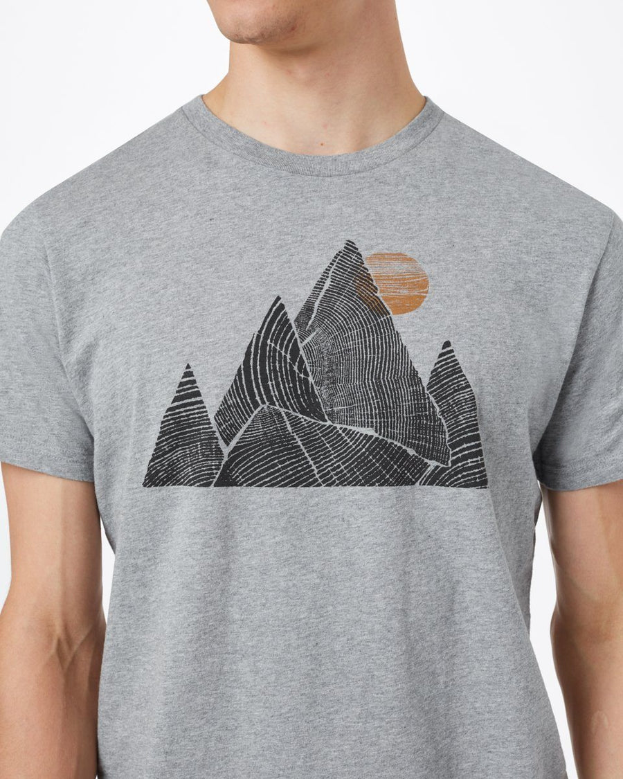 TENTREE Mountain Peak Classic T-Shirt Heather Grey MENS APPAREL - Men's Short Sleeve T-Shirts Tentree