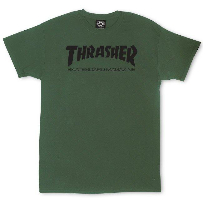 THRASHER Skate Mag T-Shirt Green MENS APPAREL - Men's Short Sleeve T-Shirts Thrasher M