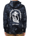 FREERIDE Dead Hand Pullover Hoodie Black Tie Dye MENS APPAREL - Men's Pullover Hoodies Freeride