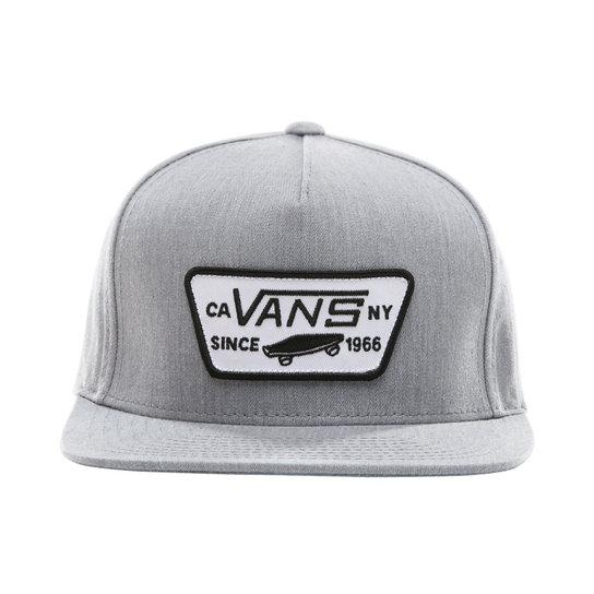 VANS Full Patch Snapback Hat Boys Heather Grey KIDS APPAREL - Boy's Hats Vans