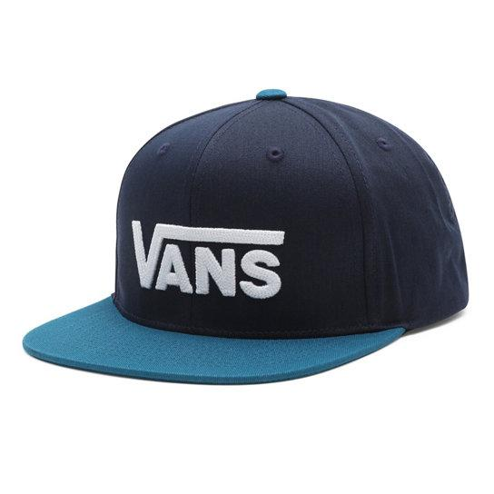VANS Drop V II Snapback Hat Boys Dress Blues/ Moroccan Blue KIDS APPAREL - Boy's Hats vans