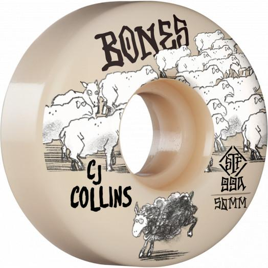 BONES STF Collins Black Sheep V3 Slims 99A 50mm Skateboard Wheels SKATE SHOP - Skateboard Wheels Bones