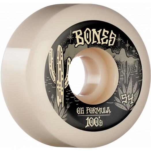 BONES 100's Desert West V5 Sidecuts 100A 54mm Skateboard Wheels SKATE SHOP - Skateboard Wheels Bones
