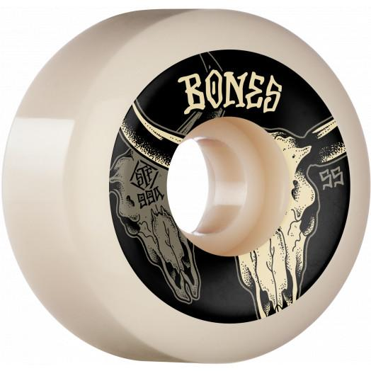 BONES STF Desert Horns V5 Sidecuts 99A 55mm Skateboard Wheels SKATE SHOP - Skateboard Wheels Bones