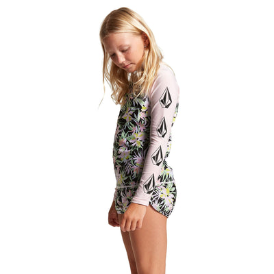 VOLCOM On Tropic Long Sleeve Rashguard Girls Multi WAKEBOARD & SURF EQUIPMENT - Rashguards Volcom