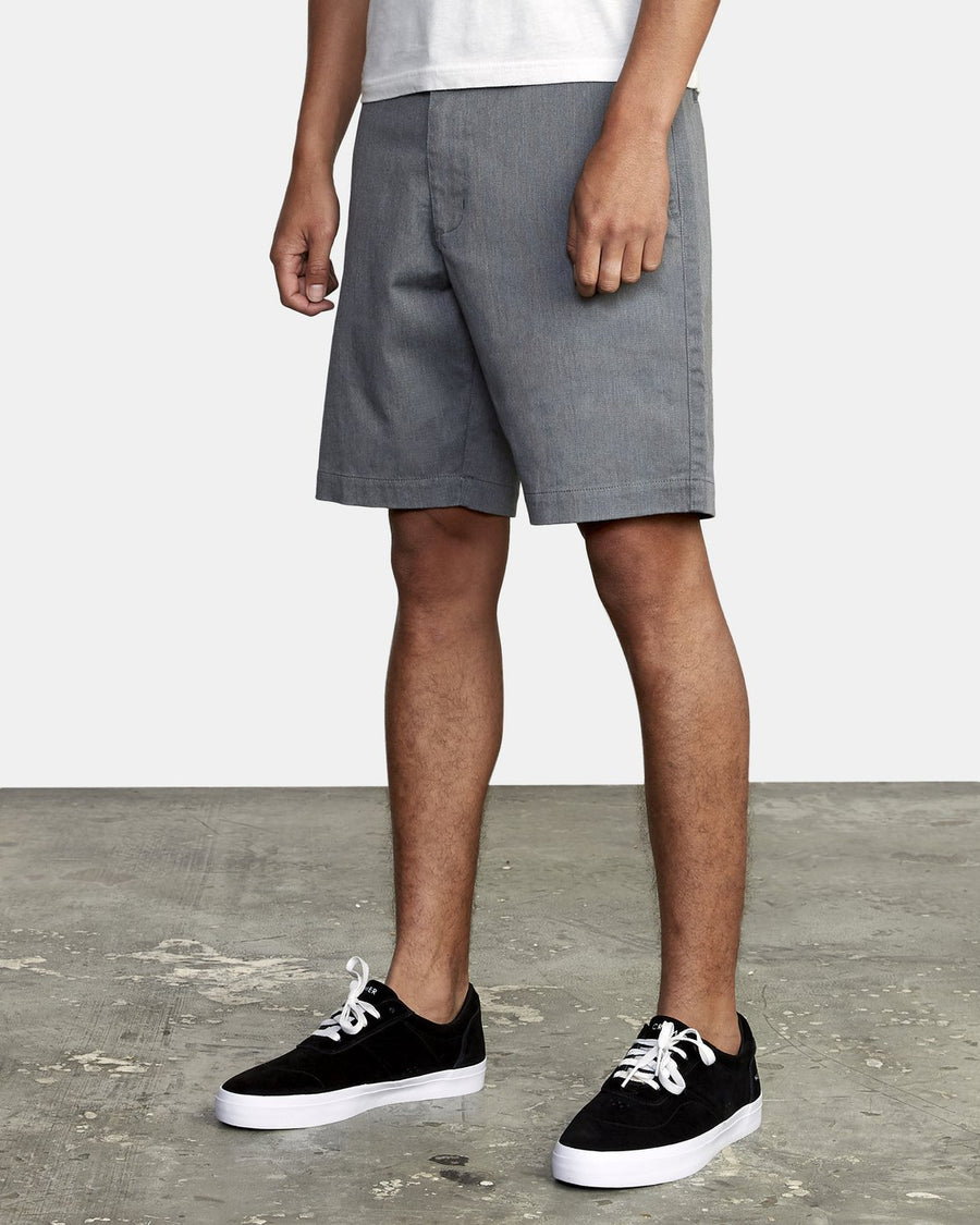RVCA Weekend Texture Walkshorts Smoke MENS APPAREL - Men's Walkshorts RVCA