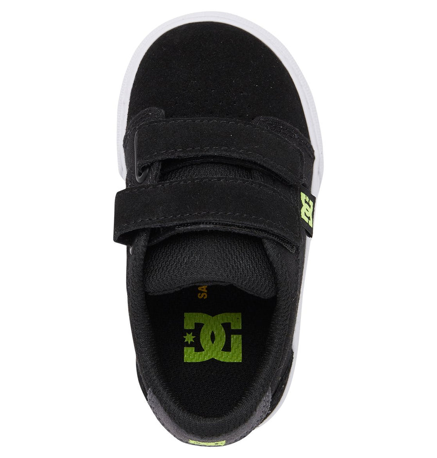 DC Anvil V Shoes Toddler Black/Grey/Yellow FOOTWEAR - Youth and Toddler Skate Shoes DC