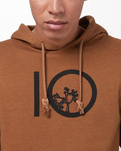 TENTREE Ten Pullover Hoodie Rubber Brown Heather MENS APPAREL - Men's Pullover Hoodies Tentree
