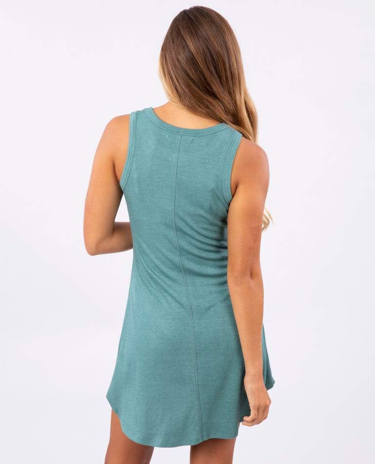 RIP CURL Surf Essentials Cover Up Dress Women's Forest Green WOMENS APPAREL - Women's Dresses Rip Curl