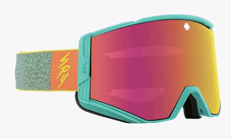 SPY Ace Neon Pop - HD Plus Bronze with Pink Spectra Mirror + HD Plus LL Persimmon with Silver Spectra Mirror Snow Goggles GOGGLES - Spy Goggles Spy
