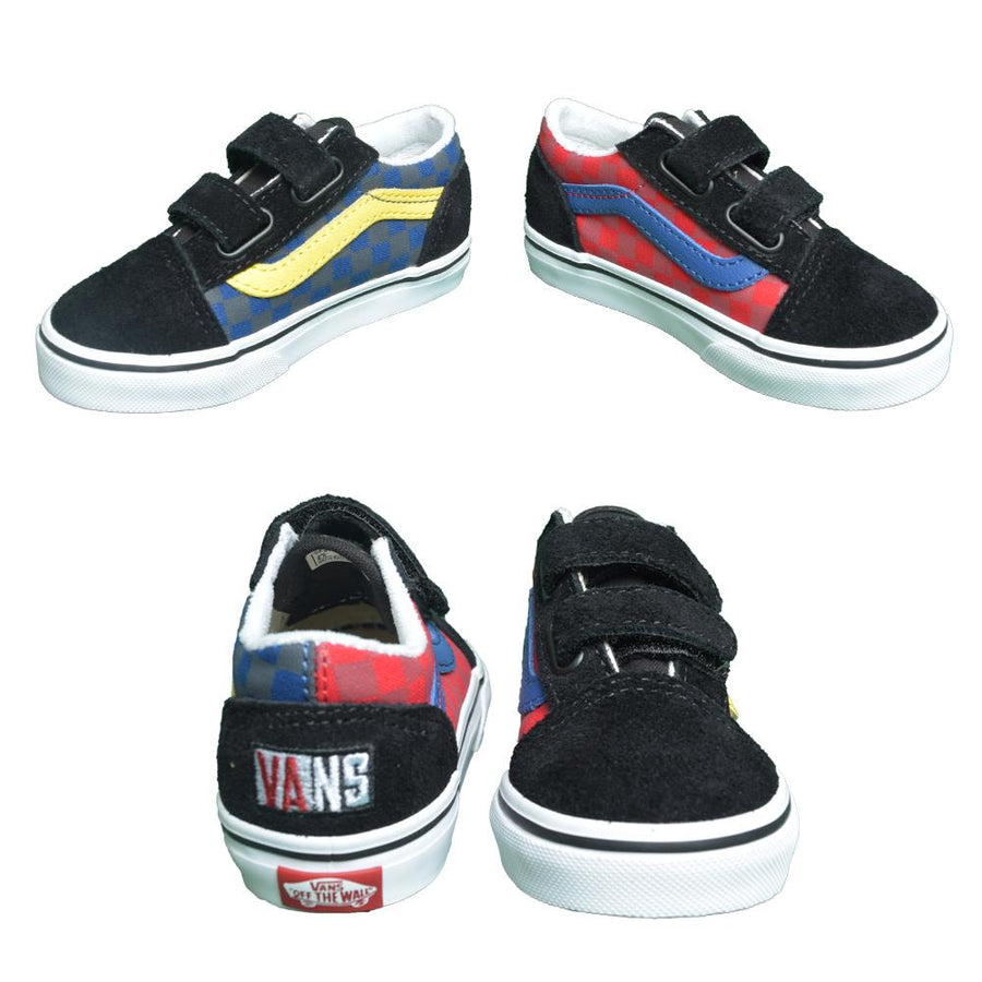 VANS Old Skool V Toddler Shoes Checkerboard OTW Rally FOOTWEAR - Youth and Toddler Skate Shoes Vans