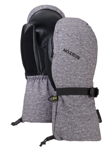 BURTON GORE-TEX Mitten Kids Monument Heather WINTER GLOVES - Youth Snowboard Gloves and Mitts Burton
