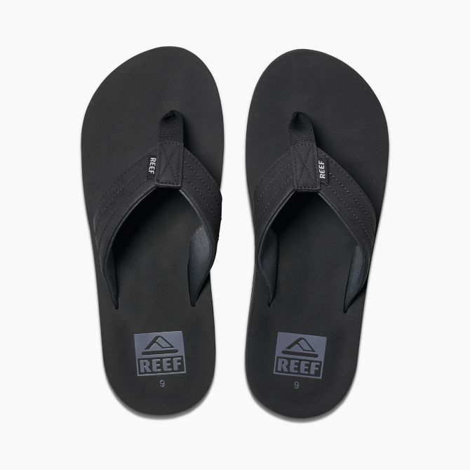 Reef Twinpin Lux Black Sandals FOOTWEAR - Men's Sandals Reef
