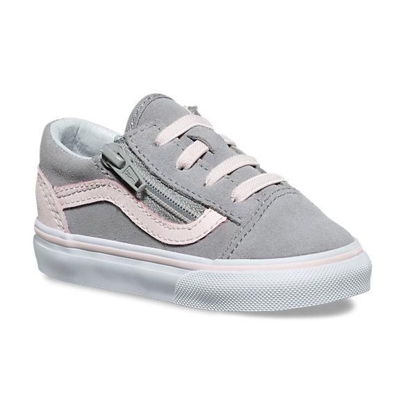 VANS Old Skool Zip Suede Alloy/ Heavenly Pink Toddler Shoes