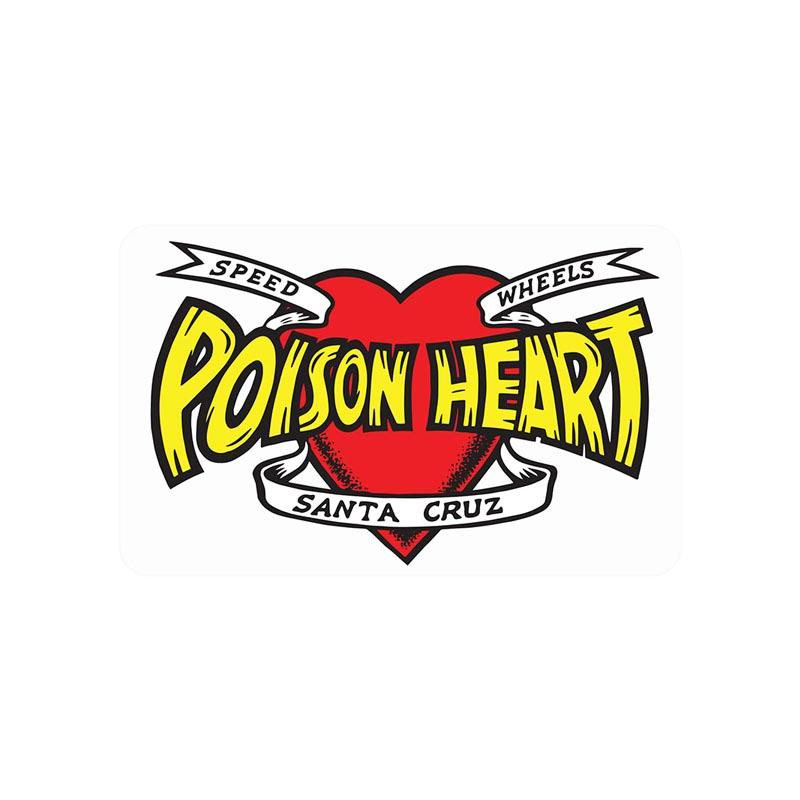 SANTA CRUZ Poison Heart 5in Sticker ACCESSORIES - Stickers Santa Cruz