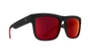 SPY Discord Soft Matte Black/Red Fade - Happy Grey Green with Red Flash