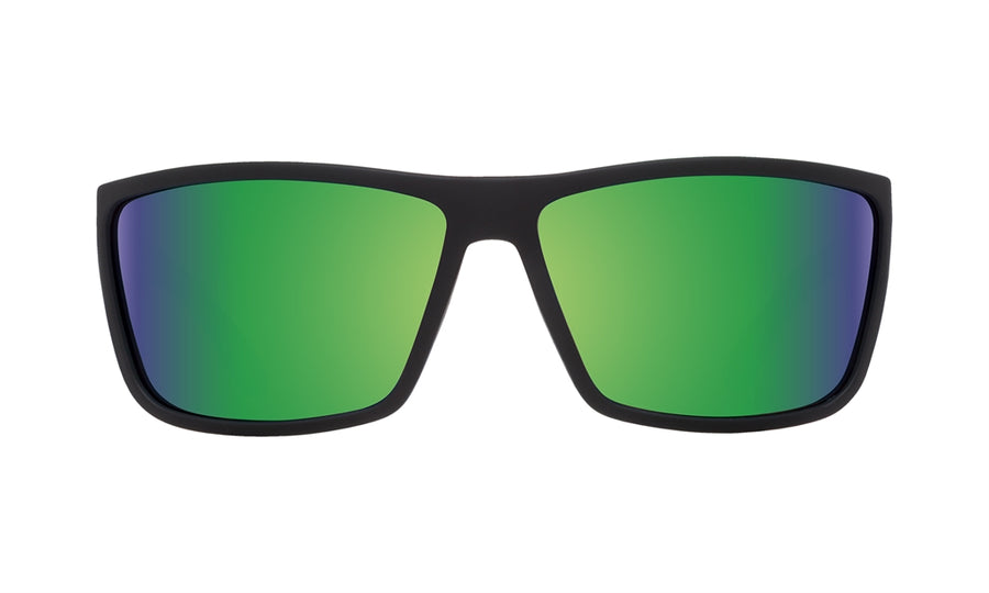 SPY Rocky Soft Matte Black - Happy Bronze Polarized w/ Green Spectra Sunglasses