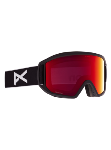 ANON Relapse Black - Perceive Sunny Red + Amber Snow Goggles