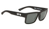 SPY Montana Soft Matte Black - Happy Grey Green Sunglasses SUNGLASSES - Spy Sunglasses Spy