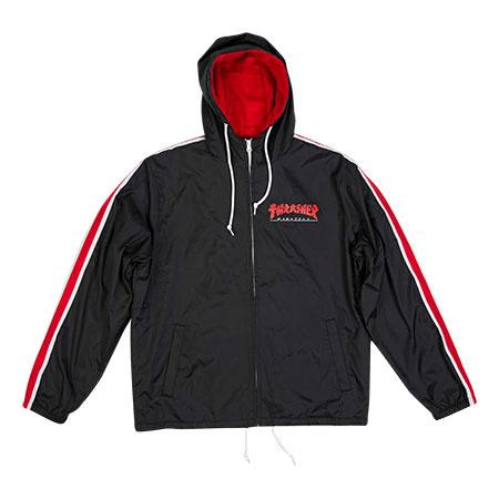 THRASHER Godzilla Track Jacket Black MENS APPAREL - Men's Street Jackets Thrasher