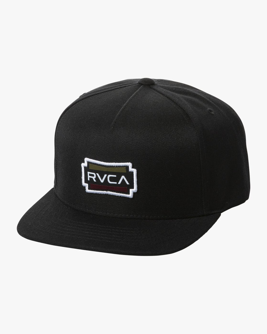 RVCA Demo Snapback Hat Black MENS ACCESSORIES - Men's Baseball Hats RVCA