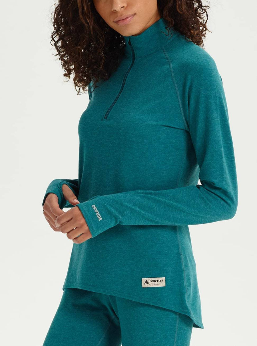 BURTON Expedition 1/4 Zip Base Layer Women's Balsam Heather WOMENS OUTERWEAR - Women's Base Layer Burton
