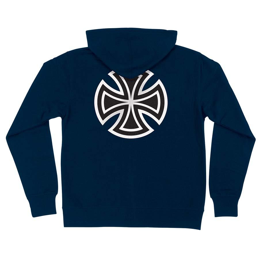 INDEPENDENT Bar/Cross Pullover Hoodie Navy MENS APPAREL - Men's Pullover Hoodies Independent