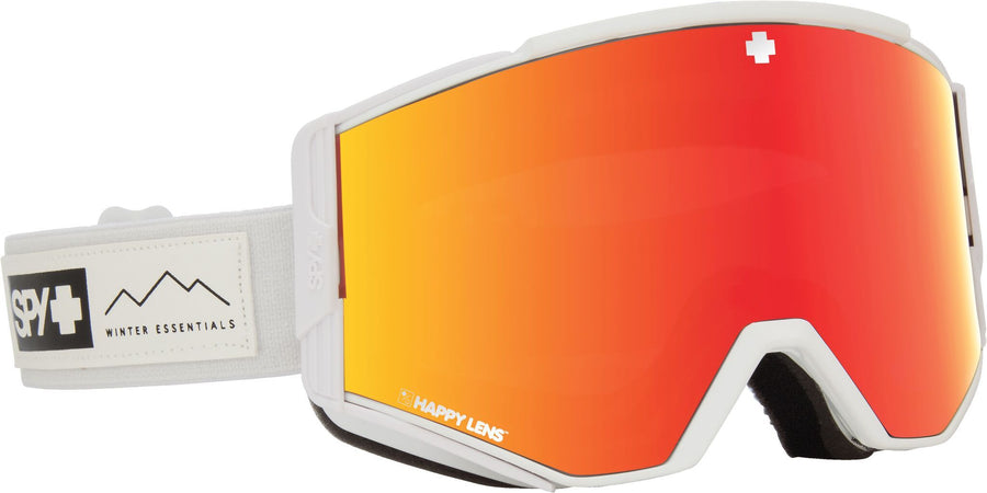 SPY Ace Essential White - Happy Grey Green with Red Spectra + Happy Yellow with Lucid Green Snow Goggle