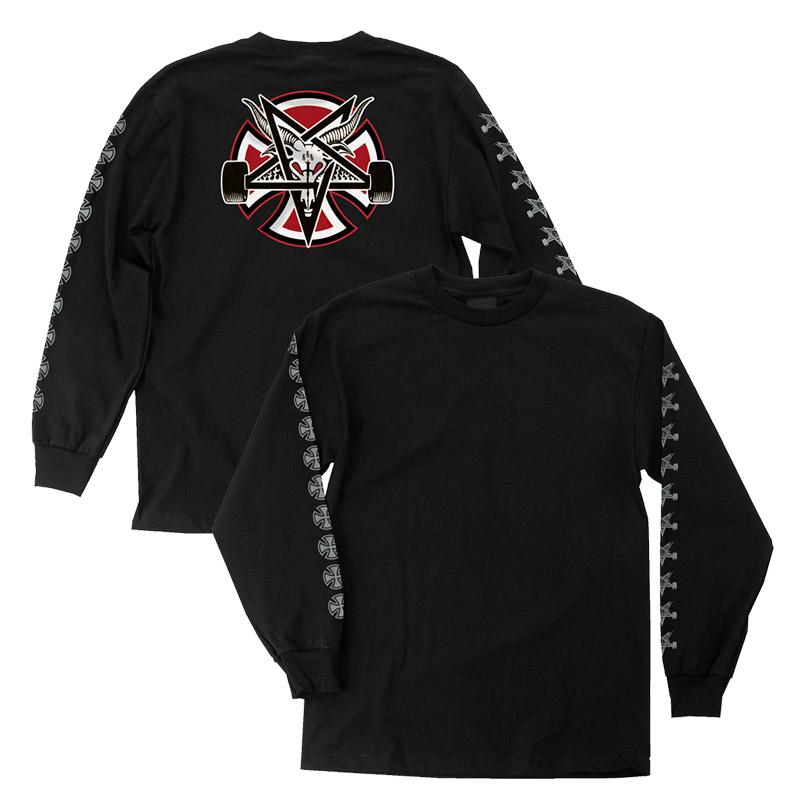 INDEPENDENT Indy X Thrasher Pentagram Cross L/S T-Shirt Black