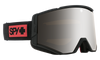 SPY Ace Night Rider Matte Black - HD Plus Bronze With Silver Spectra Mirror + HD LL Clear Snow Goggle