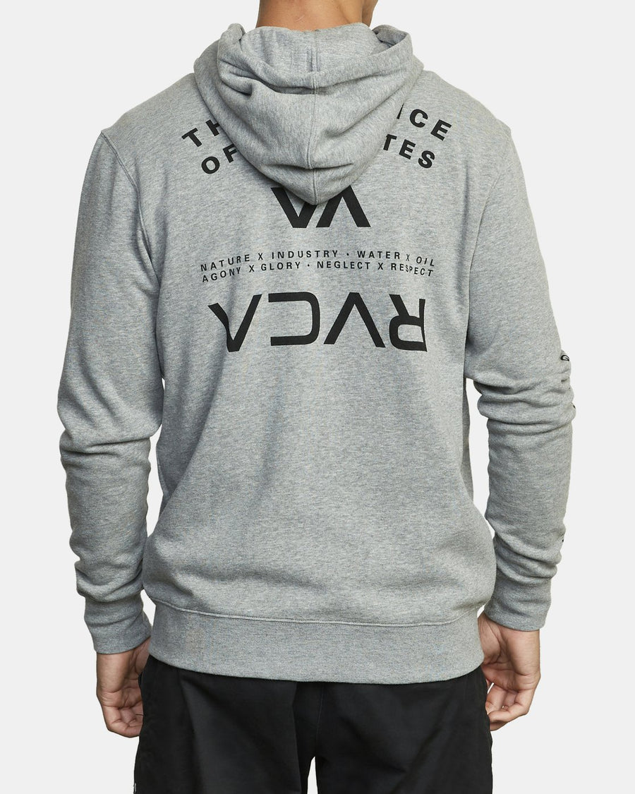 RVCA Swift Zip Hoodie Heather Grey