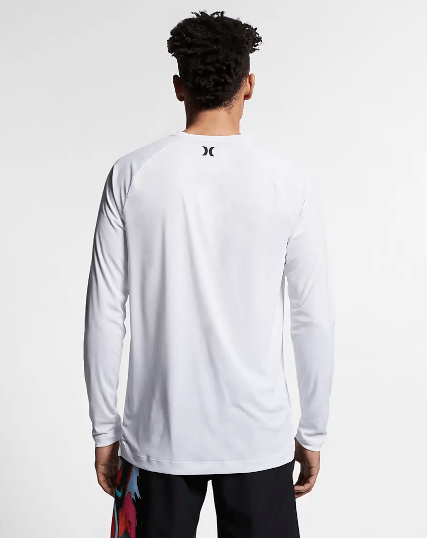 HURLEY Quick Dry L/S T-Shirt White MENS APPAREL - Men's Long Sleeve T-Shirts Hurley
