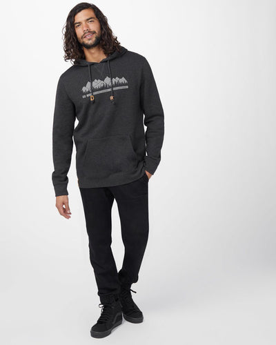 TENTREE Creation Pullover Hoodie Meteorite Black Heather MENS APPAREL - Men's Pullover Hoodies Tentree