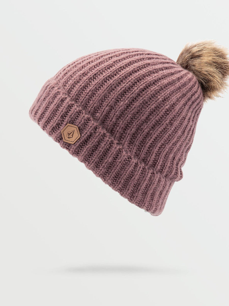 VOLCOM Lula Beanie Women's Rose Wood WOMENS ACCESSORIES - Women's Beanies Volcom