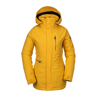 VOLCOM Shelter 3D Stretch Snowboard Jacket Womens Yellow