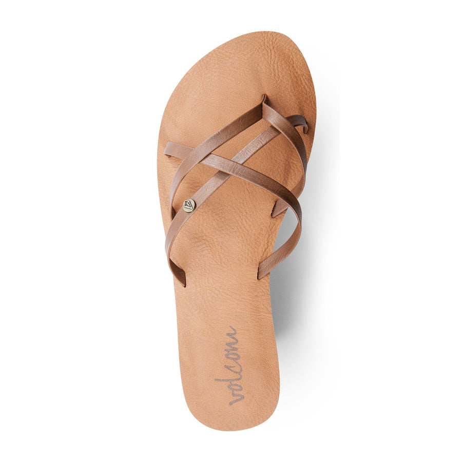 VOLCOM New School Sandal Womens Brown FOOTWEAR - Women's Sandals Volcom
