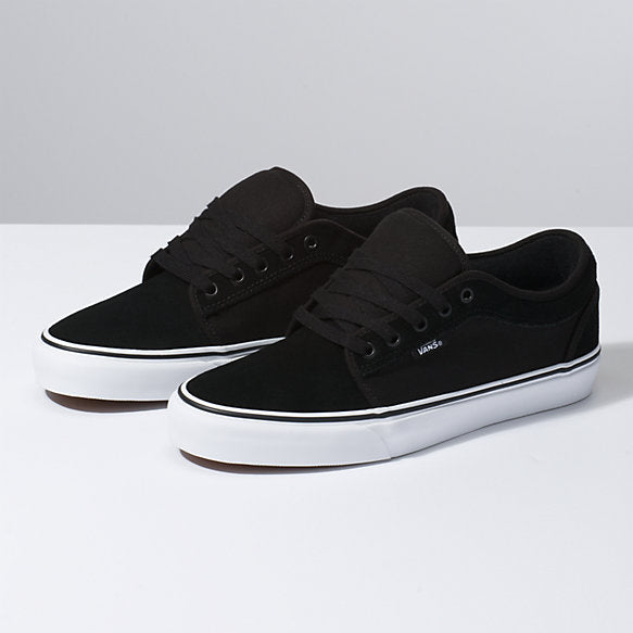 VANS Chukka Low Suede Black/ True White Shoes FOOTWEAR - Men's Skate Shoes Vans 10