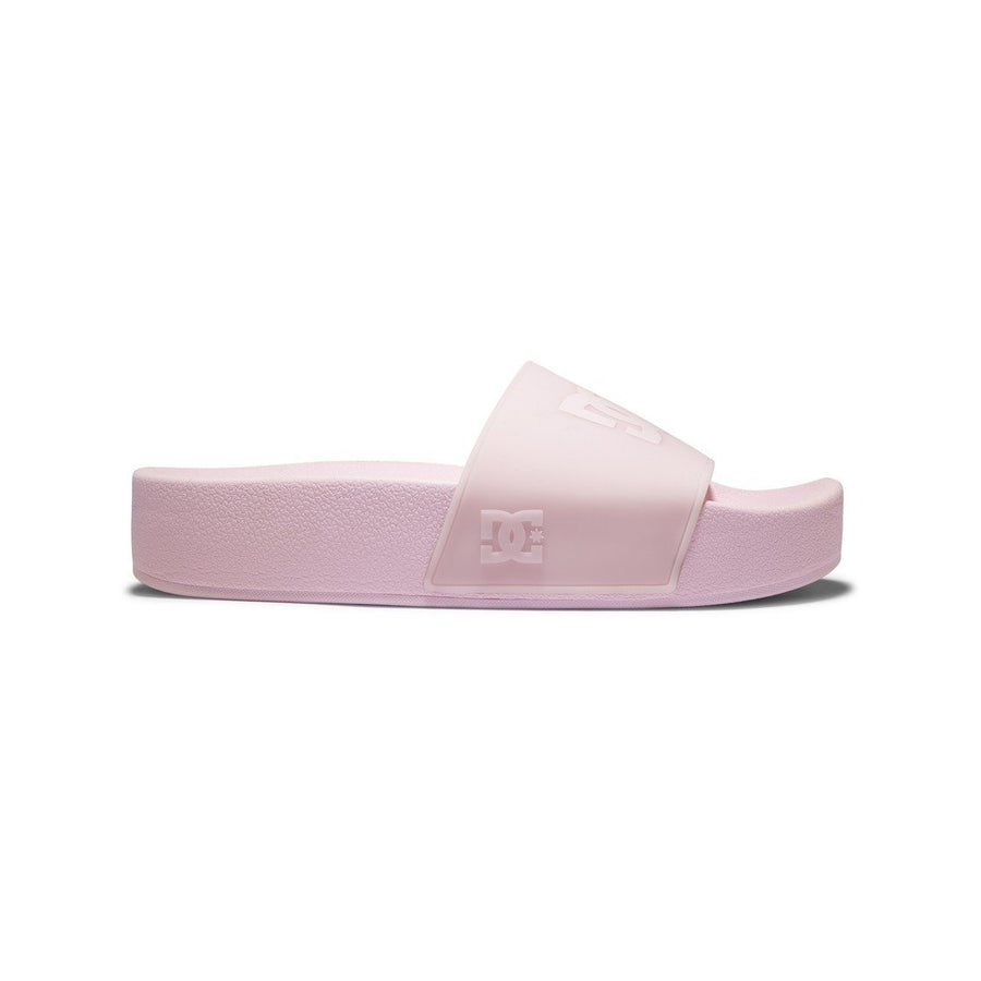 DC Platform Slides Women's Barely Pink FOOTWEAR - Women's Sandals DC