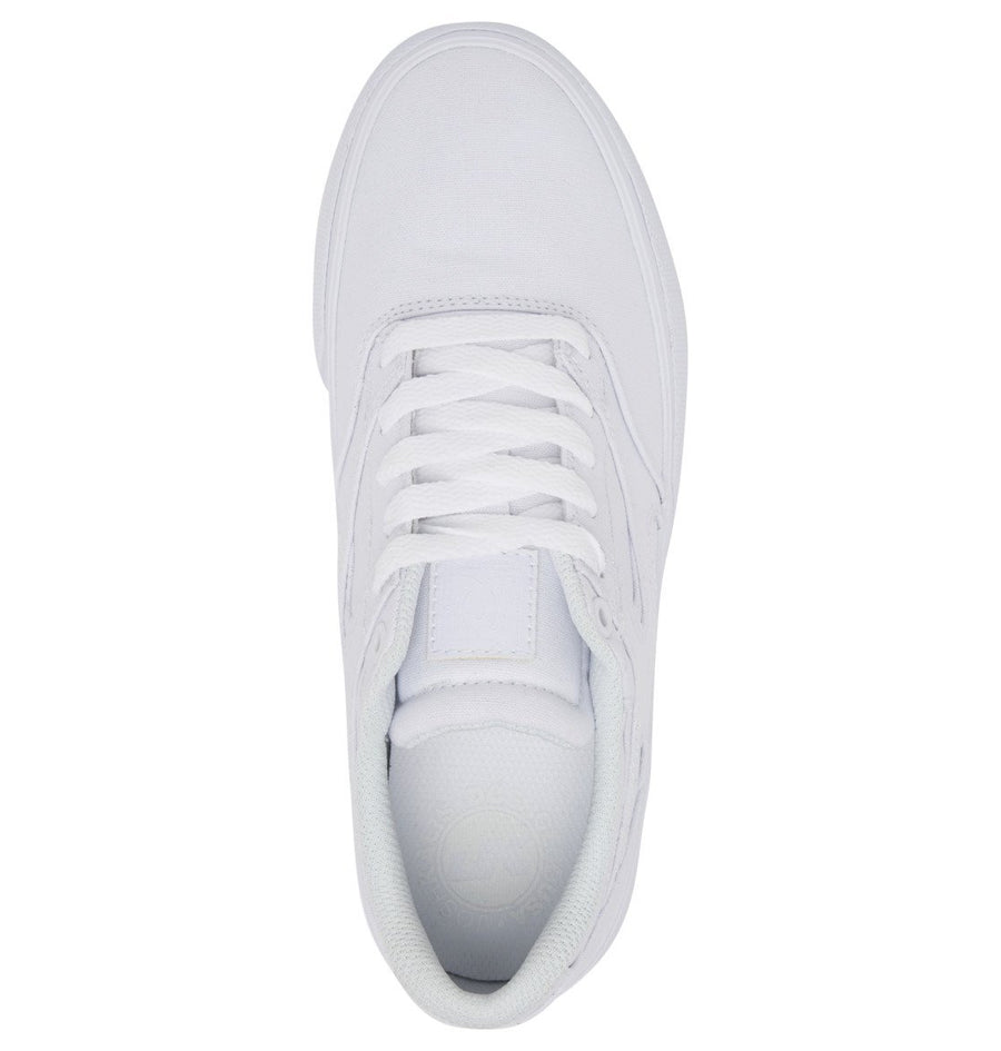 DC Kalis Vulc Shoes Women's White/White FOOTWEAR - Women's Skate Shoes DC