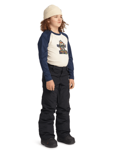 BURTON Exile Cargo Snowboard Pants Youth True Black 2021 YOUTH INFANT OUTERWEAR - Youth Snowboard Pants Burton