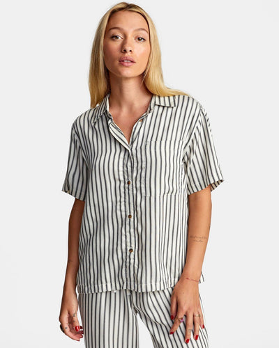RVCA Take It Easy Top Women's Birch WOMENS APPAREL - Women's Blouses RVCA S