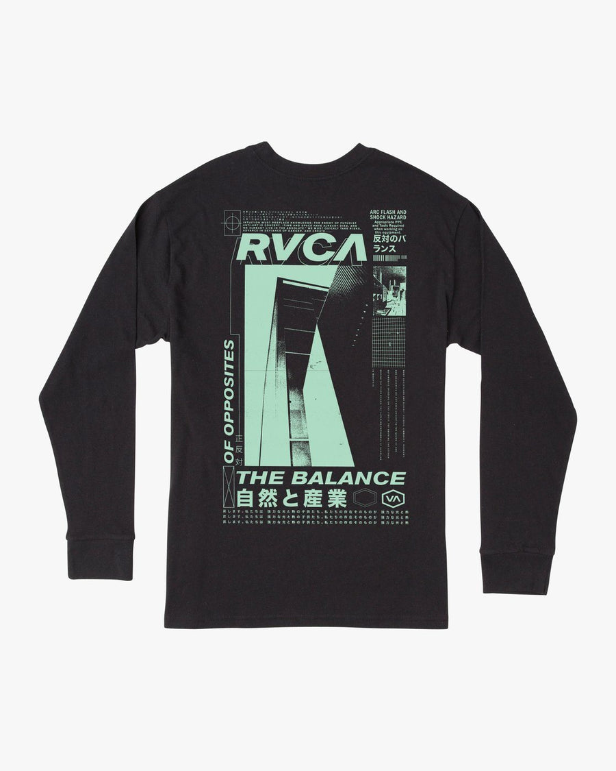 RVCA Futurist Long Sleeve T-Shirt Black MENS APPAREL - Men's Long Sleeve T-Shirts RVCA M